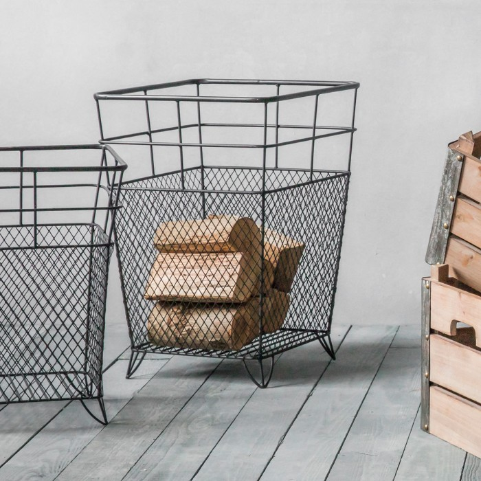 Lunde Large Metal Storage Basket