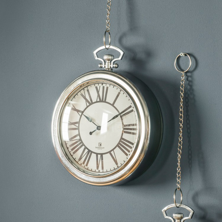 Oxford Clock Chrome