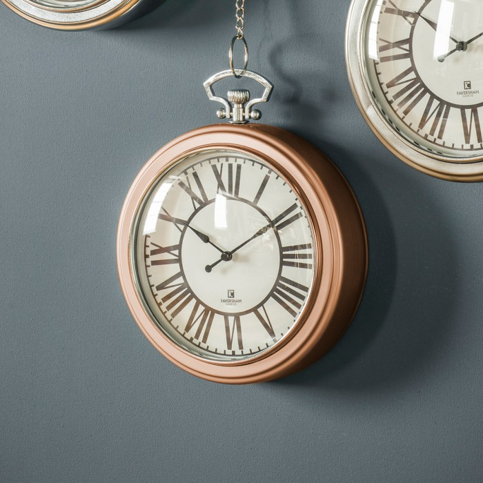 Oxford Clock Copper