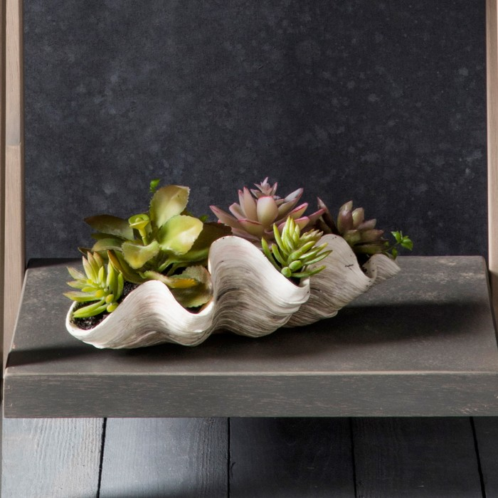 Faux Potted Clamshell