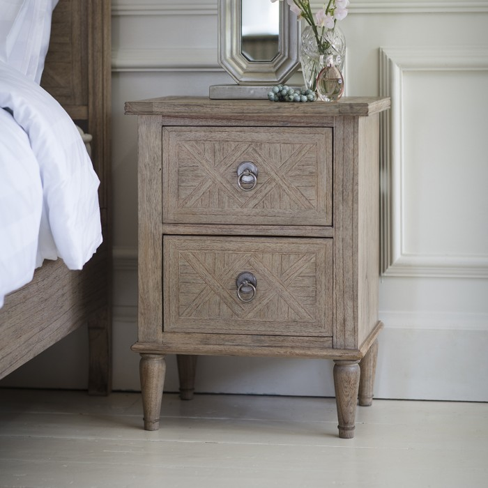 Mustique 2 Drawer Bedside Table