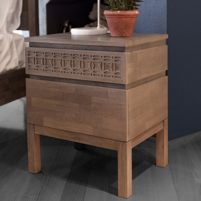 Boho 2 Drawer Bedside