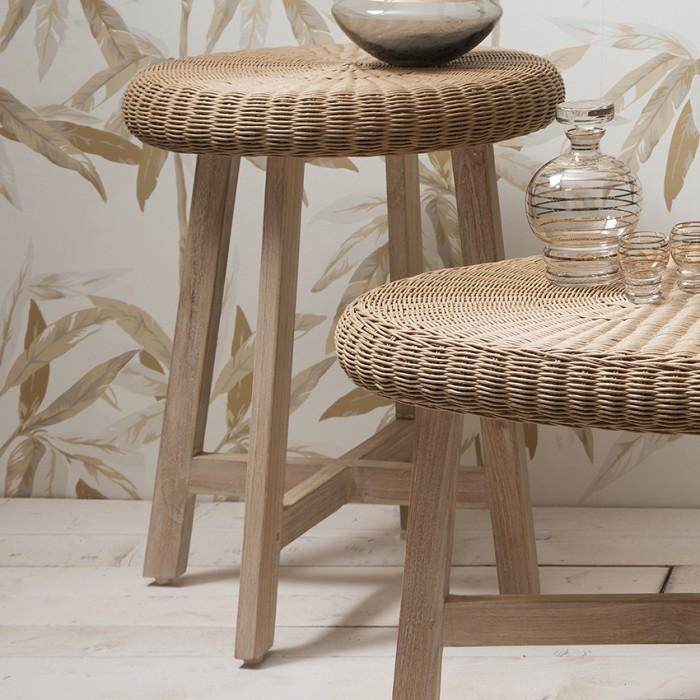Kew Chunky Round Side Table Natural