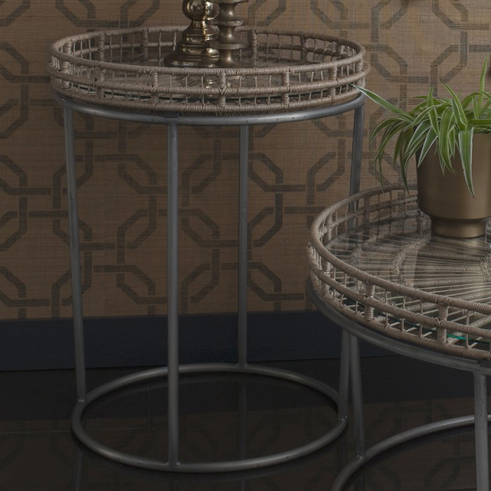 Mandelay Round Side Table Natural