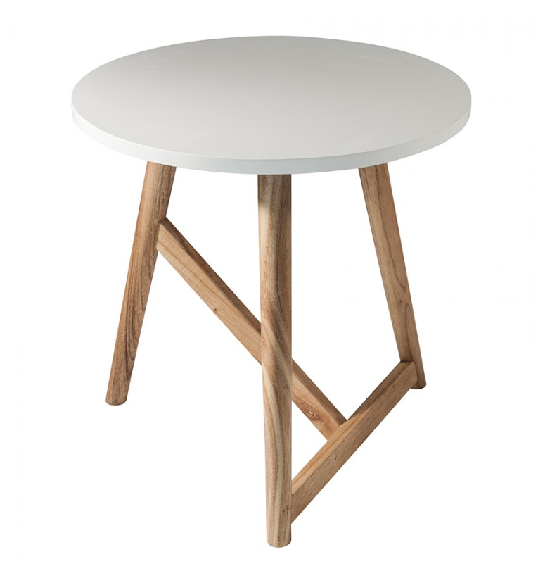 Hamar Round Side Table White 50cm Gallery Direct