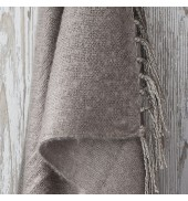 Chesham Faux Mohair Throw Natural