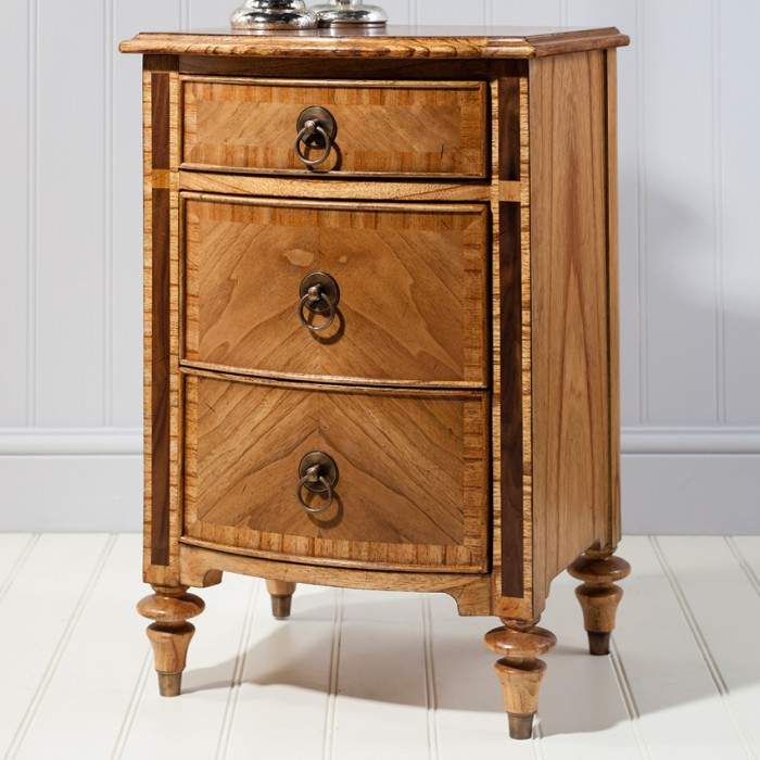 Spire Three Drawer Bedside Cabinet