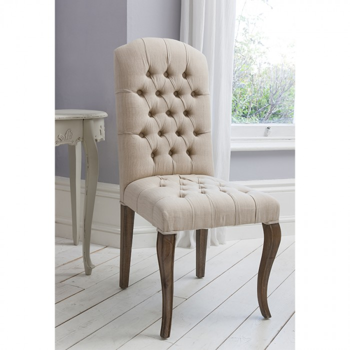 Maison Button Chair Weathered Frame