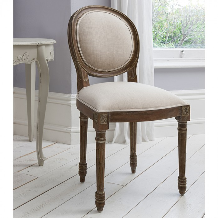 Maison Balloon Back Chair Weathered Frame