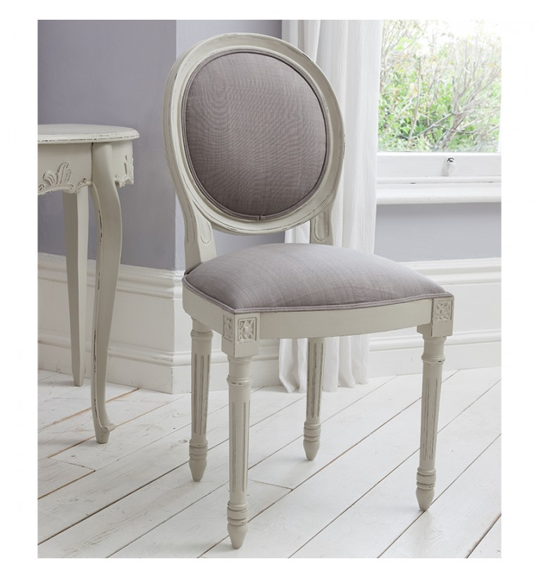 Beau Maison Balloon Back Chair Cool Grey