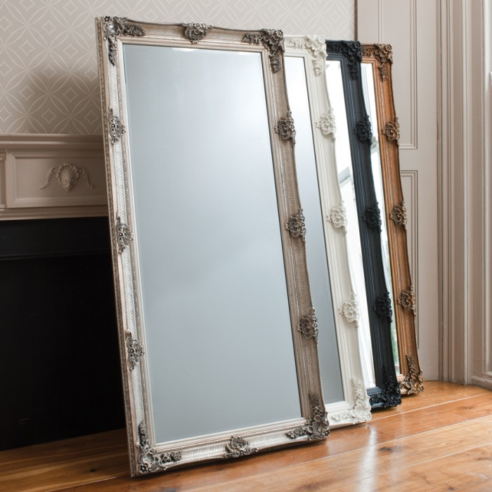 Abbey Leaner Mirror Black