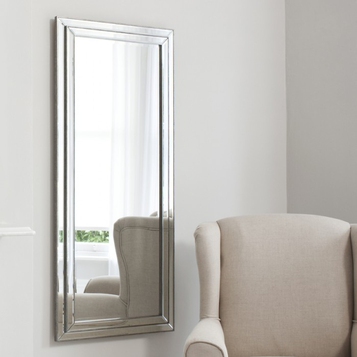 Chambery Leaner Mirror Pewter