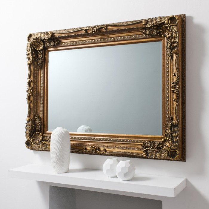 Carved Louis Mirror Gold