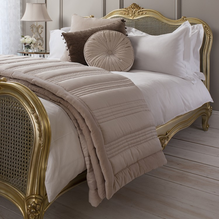 Ashby Quilted Bedspread Taupe