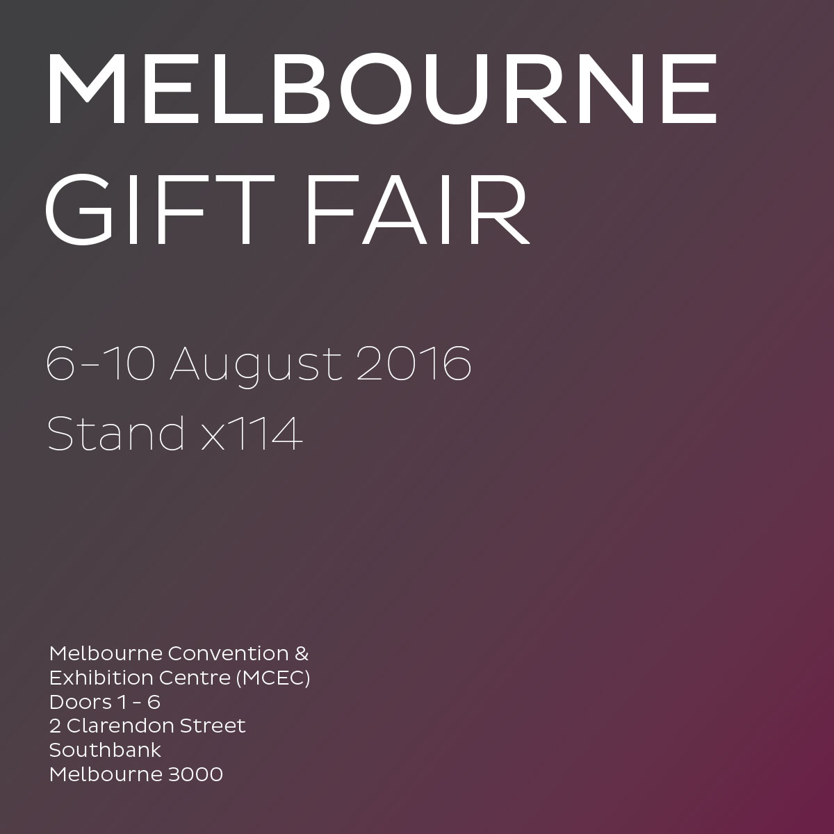 See us at the Melbourne Gift Fair
