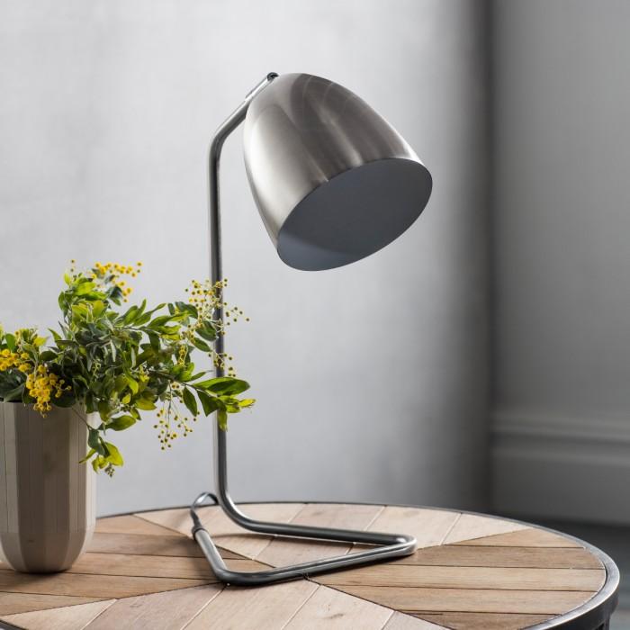 Denver Table Lamp Brushed Nickel