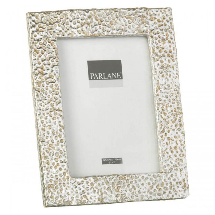Hammered Photoframe Antique Silver Medium (3pk)