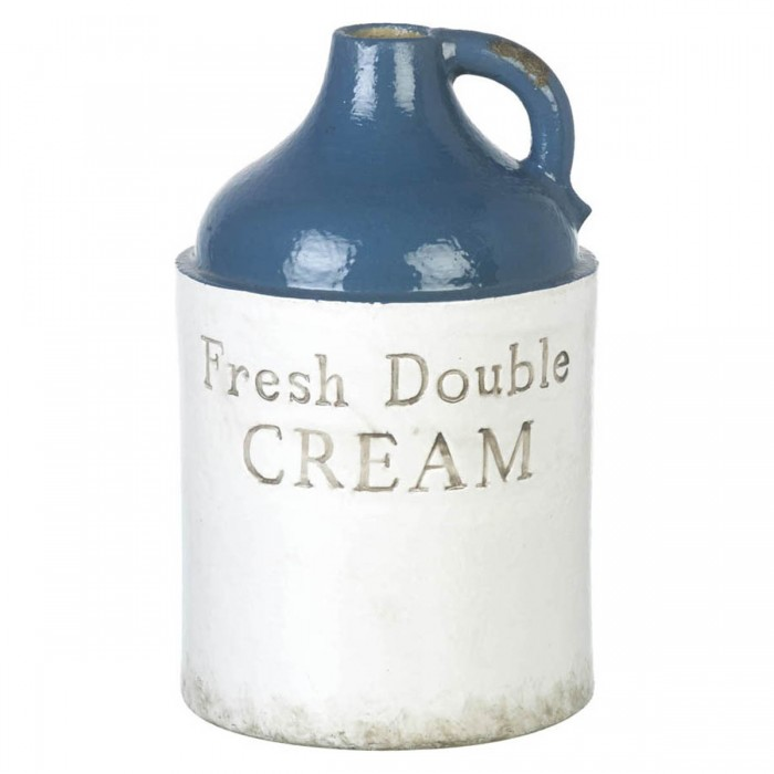 Double Cream Vase Black & White