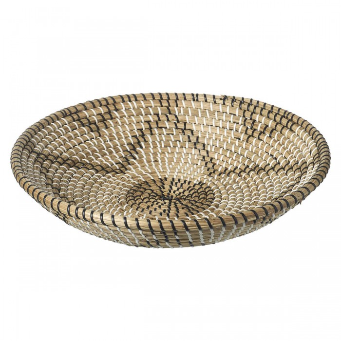 Asha Seagrass Bowl Natural & Black