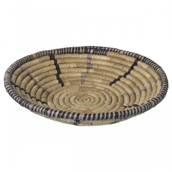 Alika Seagrass Bowl Natural, Black & Grey