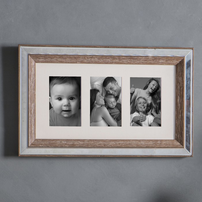 Carsington 3 Aperture Collage Photo Frame