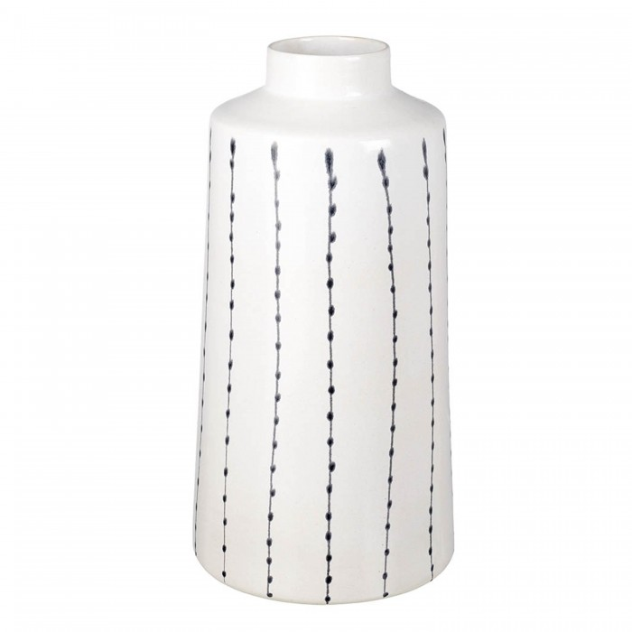 Cassie Vase White & Black