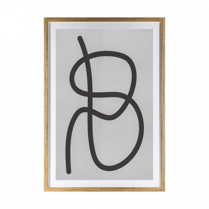 Dikkel Line Drawing Framed Art