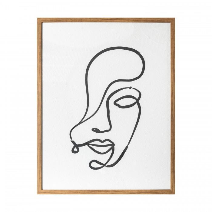 Contour Line Drawing Framed Print