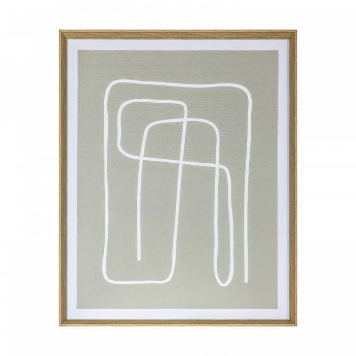 Earthen Line Drawing Framed Art